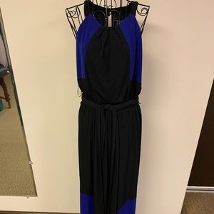 Purple and black Vince Camuto maxi dress size 8